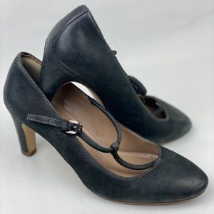 Ecco Shoes T Strap Mary Jane Black Leather Shoes